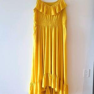 Torrid -  Bright Yellow Maxi Flutter Dress 1X